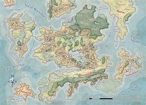 map of faerun 1998 215 1435 maps forgotten realms search and map