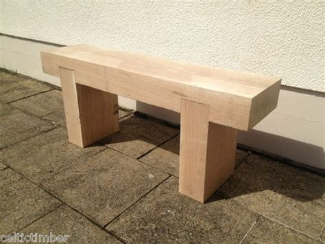 wood beam bench hand made solid french oak beam garden bench seat wooden