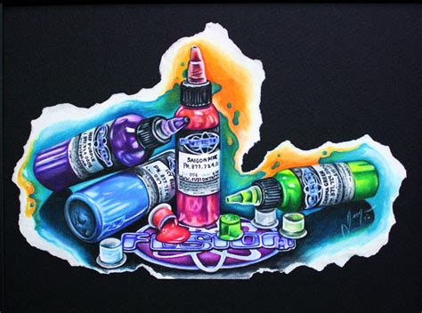 what is in tattoo ink ink bottle drawing www pixshark images