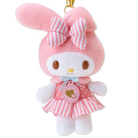 Japan Home Decor my melody motif mascot plush doll charm heart sanrio japan