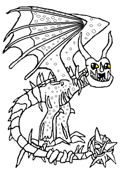 Mobile Skrill Dragon Coloring Page Pages