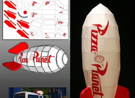 Rocket Papercraft - story pizza planet rocket papercraft papercraft