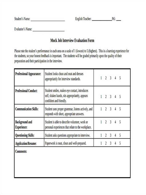 16 interview feedback form templates