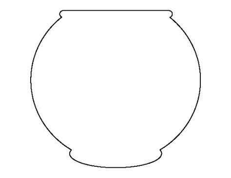 fish bowl pattern use the printable outline for crafts