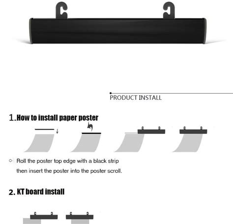 80cm pop banner clips rod poster hanger sign paper clip 90cm h plastic poster snap poster banner holder strip kt