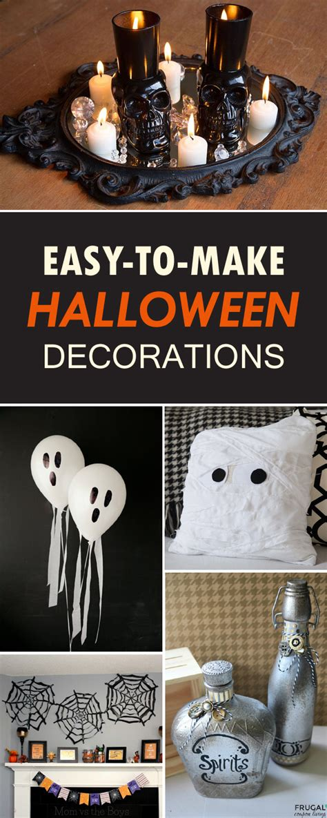 make at home halloween decorations easy to make diy halloween decorations