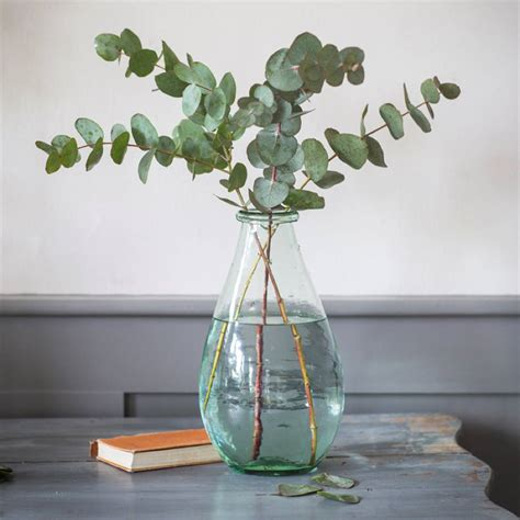 Recycled Glass Vases Large large recycled glass vase by all things brighton beautiful notonthehighstreet