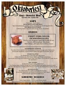 oktoberfest menu 1 from king s biergarten please visit