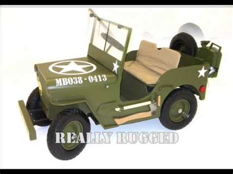 Childrens Electric Jeep Mb Willy S Jeep Electric 24 Volt Jeep
