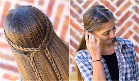 cute girl hairstyles knot double braid tieback cute girls hairstyles cute girls