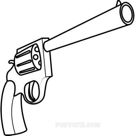 how to draw doodle guns how to draw an easy gun pop path