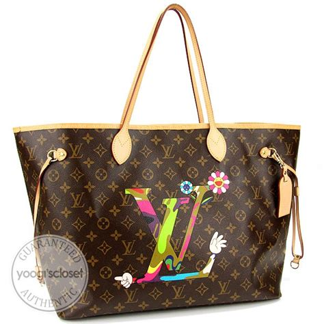 Limited Edition Louis Vuitton Murakami Neverfull by Louis Vuitton Limited Edition Monogram Canvas Neverfull Gm