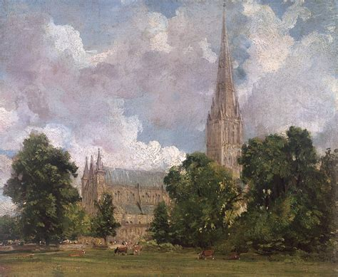 by john constable salisbury cathedral salisbury cathedral from the south west painting by john