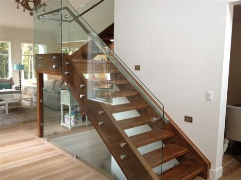 Elegant glass stair railing home design picture of stairs modern