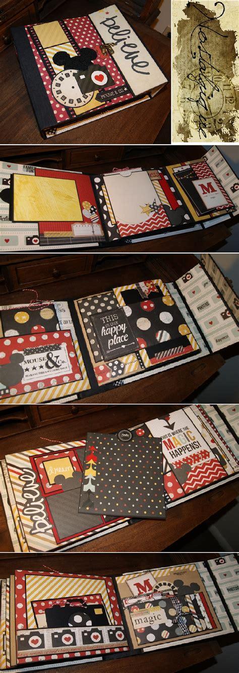 scrapbook layout pdf disney mini album tutorial pinteres