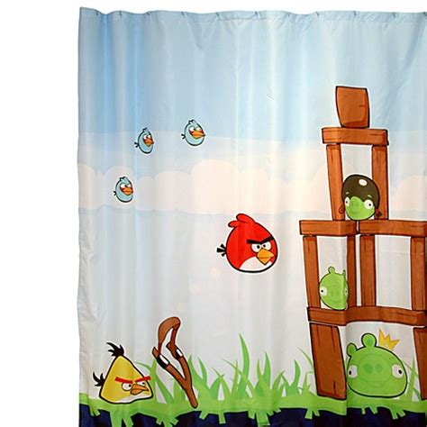 angry birds curtains angry birds 72 inch x 72 inch fabric shower curtain bed