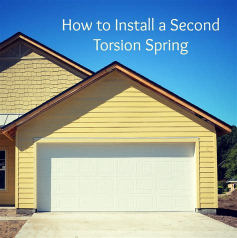 How To Replace Your Garage Door Torsion Spring How To Replace Torsion Garage Door