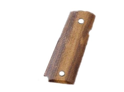 hogue fancy hardwood grips 1911 officer checkered