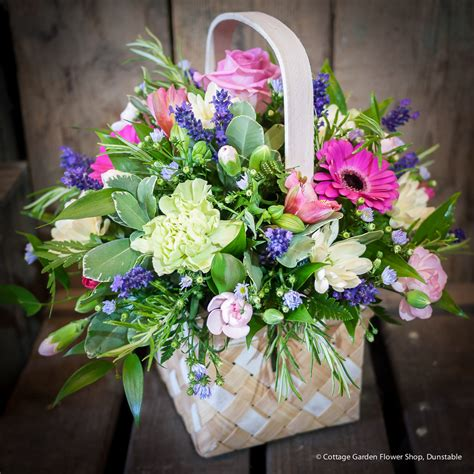 Cottage Garden Flower Shop Harlequin Basket The Cottage Garden Flower Shop Dunstable S Original Florists
