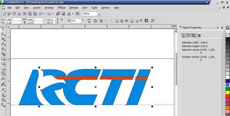membuat gambar watermark di corel membuat logo rcti di coreldraw kelas desain belajar