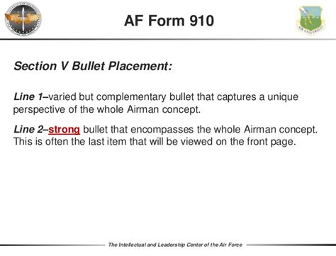 air force whole airman concept bullets bullet writing 2017