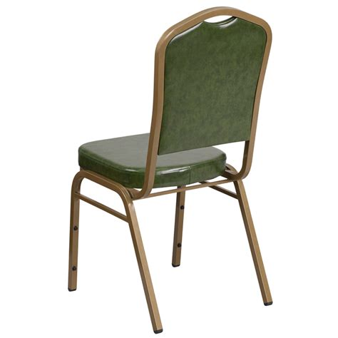 hercules series crown back stacking banquet chair in green