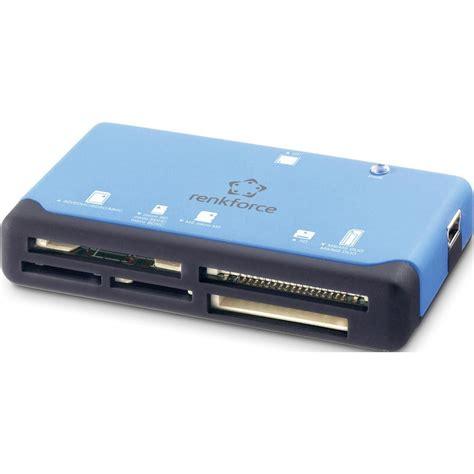 Memory Card Eksternal external memory card reader usb 2 0 renkforce cr17e blue