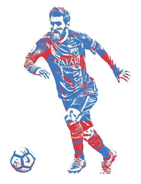 Football Artwork Messi 1 lionel messi f c barcelona argentina pixel 1 mixed