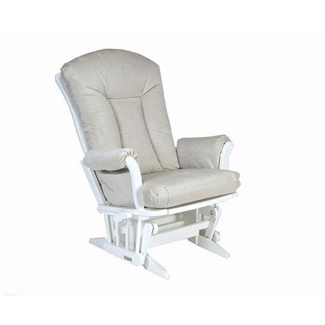 Dutailier Cushion Covers Dutailier Grande Glider Rocker White Micro Sand Fabric
