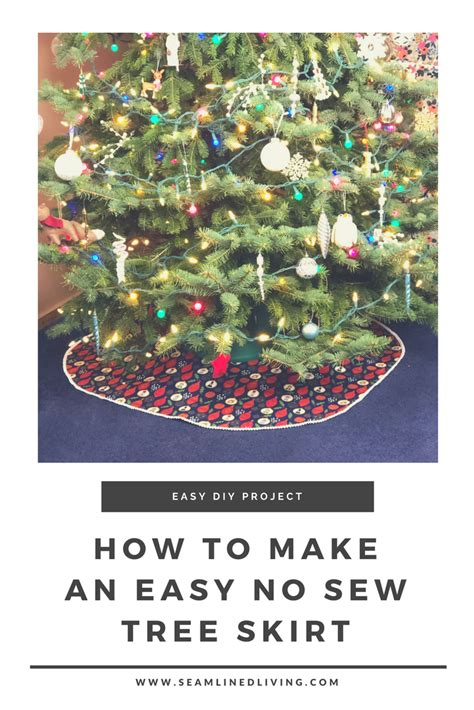 how to make a no sew christmas tree skirt easy diy patterns