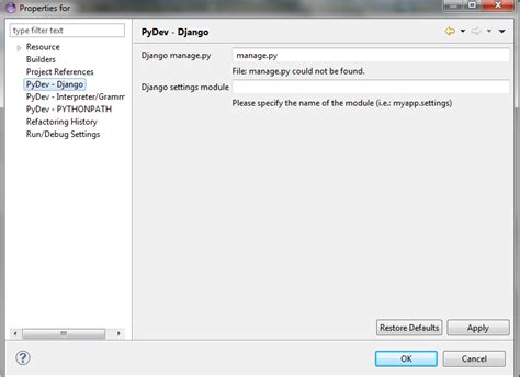 django tutorial stackoverflow python creating a django project in eclipse on win7
