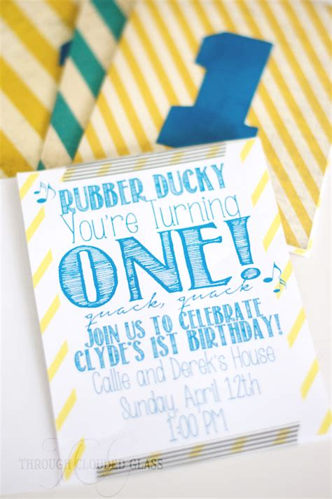 Handmade 1st Birthday Invitations - handmade birthday invitations diy through clouded