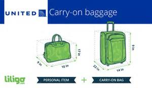 united airlines carry on baggage restrictions international