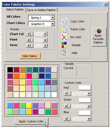 excel color palette color palette for excel bring color and style to your