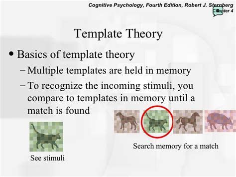 template theory perception