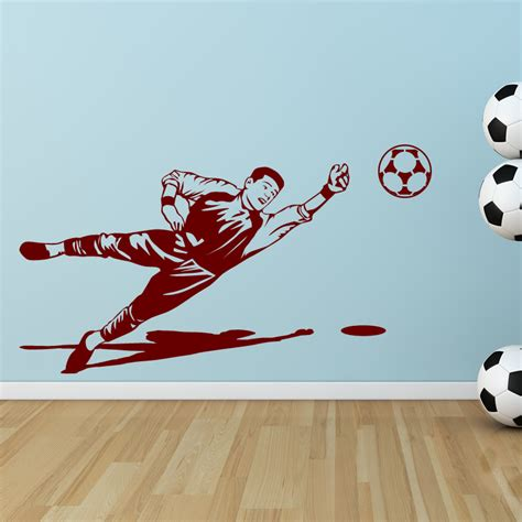 wall stickers football goalie goal keeper football sprt wall sticker decal transfers