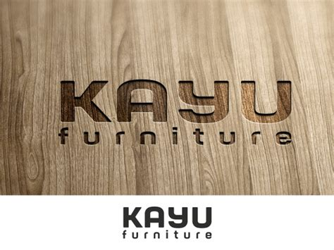 design logo kayu upmarket elegant retail logo design for kayu furniture