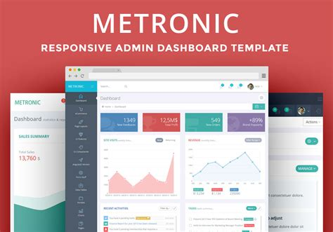 metronic the best admin dashboard template available