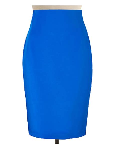 custom made sky blue pencil skirt custom handmade fully