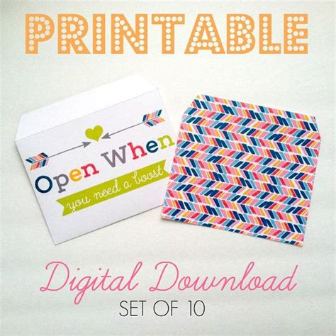 printable open when letters free printable download 10 open when envelopes open when