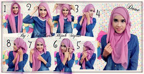 tutorial hijab paris layer tutorial hijab segi empat untuk wajah bulat luludwilestari24