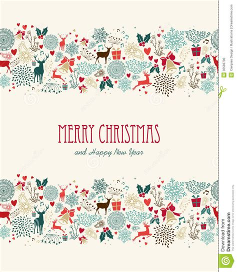 merry christmas pattern vector merry christmas vintage seamless pattern stock vector