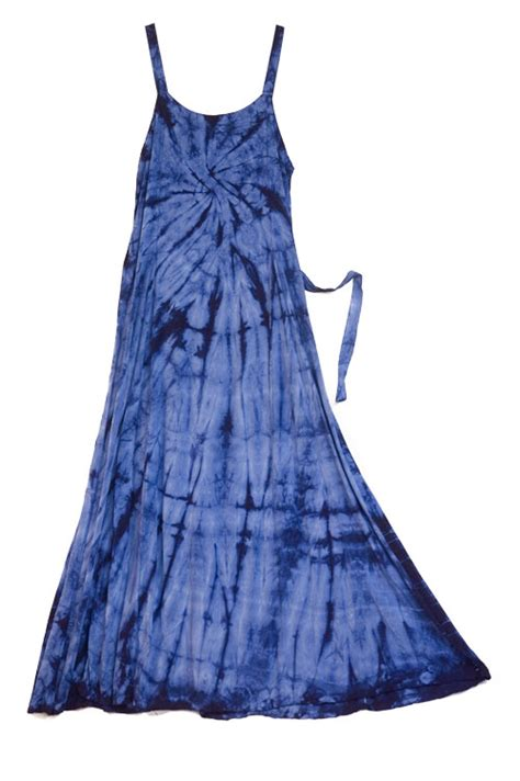 Id 0256 Blue Spiral Dress tye dye everything