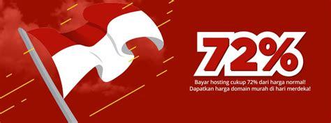 merdeka nikmati promo diskon  agustus  hosting
