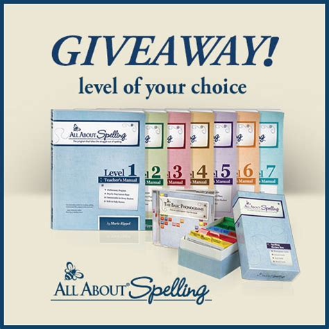 Giveaway Spelling - all about spelling giveaway level of your choice free homeschool deals 169