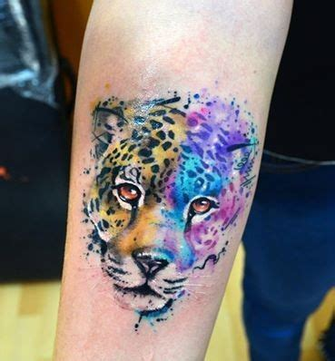 tigre en acuarelas by javi wolf tatoo tattos and tattoo