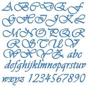 embroidery alphabet vivaldi script font in 4 sizes