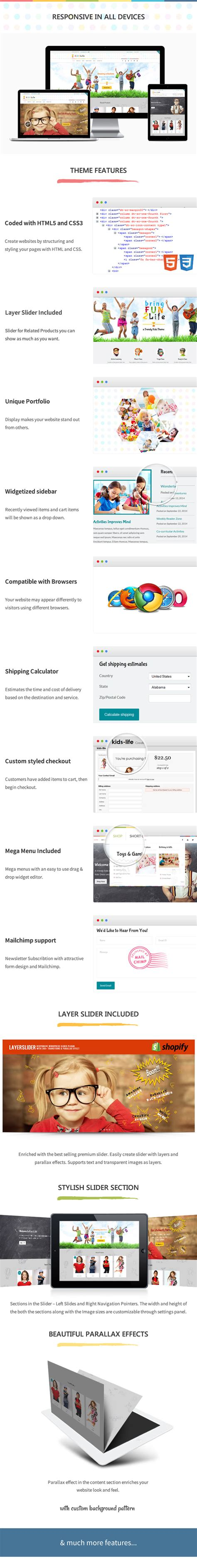 shopify themes discount kidslife responsive shopify theme shopify need for themes