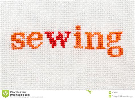 sewing pattern words embroidery word caption sewing stock photo image 63113520