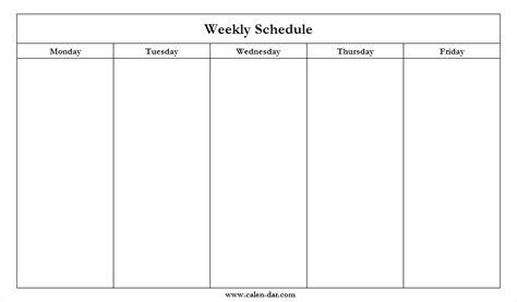 Mon Friday Calendar Template Blank Thru Monday Through Modclothing Co Free Monday Through Friday Calendar Template